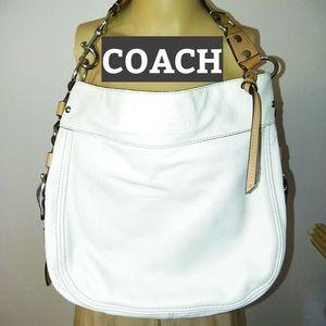 COACH, LG White Shoulder Bag